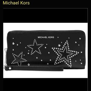 Michael kors star studded travel wallet